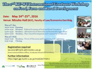2nd International Graduate Workshop ku-wu